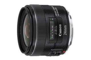 Canon EF 24mm f2.8 IS USM Lens + BONUS
