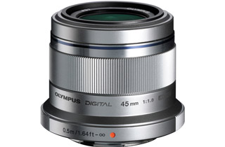 Olympus M.Zuiko Digital ED 45mm f1.8 Lens - SILVER (Micro Four Thirds)