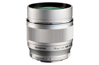 Olympus M.Zuiko Digital ED 75mm F1.8 Lens (Micro Four Thirds - Silver)