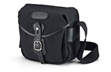 Billingham Hadley Digital (Black/Black, tan leather, brass fittings)