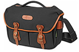 Billingham Hadley Pro (Black canvas, tan, nickel fittings)