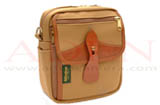 Billingham Pola Stowaway (Khaki canvas, tan leather, brass fittings)