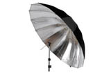 "Cameron 60"" Silver / Black Umbrella"